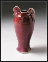 thrown potter vase