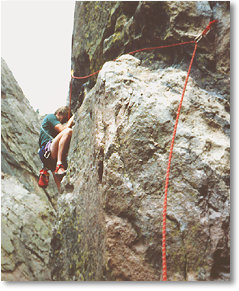 Rock climbing in BC, Canada