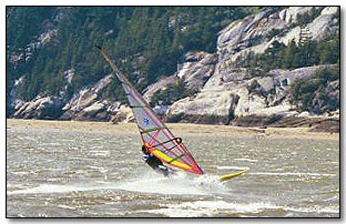 Windsurfing on the West Coast of British Columbia